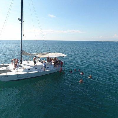 Swimming by Playa Fantasia