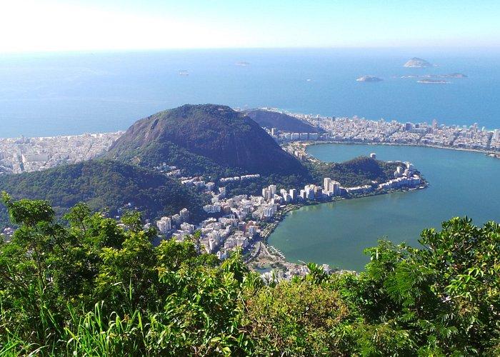 The Rodrigo de Feita Lagoon seen from up there