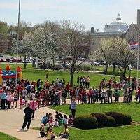 Beautiful St. Joseph MO- fountains & activities in Civic Center Park. This is the gateway to our