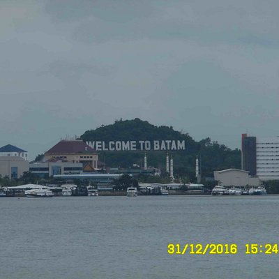 View of Batam Center Ferry Terminal from Ocarina Beach