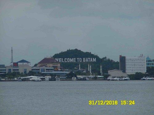 View of Batam Center Ferry Terminal from Ocarina Beach