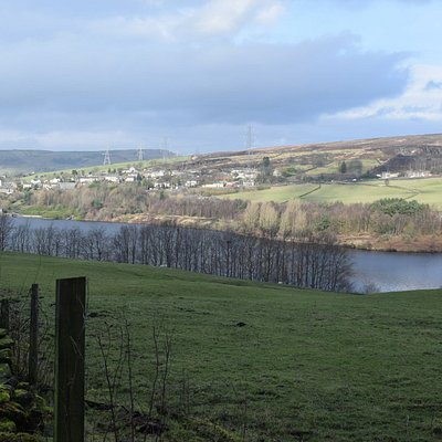 view of reservoir from Longdendale Trail
