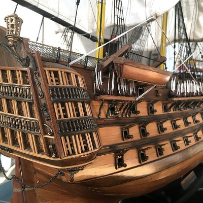 One of the model ships in Karpeles Museum