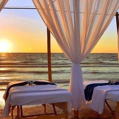 Massage with a view. We provide everything and can set up on porches, gazebos or flex spaces