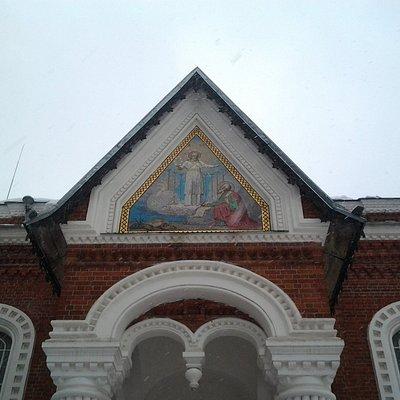 мозаика с обратной стороны музея хрусталя(Георгиевский собор)