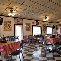 Inside the Pink Cadillac Diner