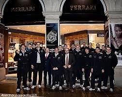 Ferrari Luca con la squadra di pallavolo di Padova