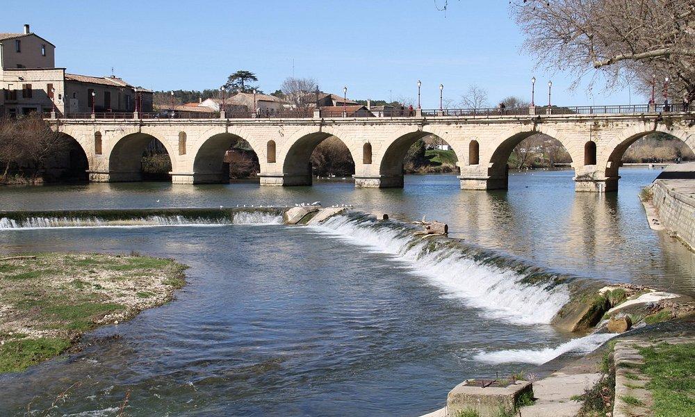 Pont Romain sur le Vidourle coté aval
