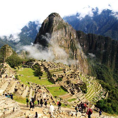 Machu Picchu  from the Sun gate, early in the morning after Inca Trail for 6 day trek..