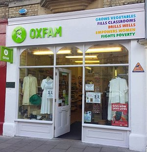 First Oxfam office in 1947 and  the first Oxfam shop open in 1948