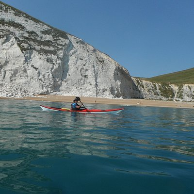 Sea kayaking from Lulworth Cove, Dorset Jurassic Coastline