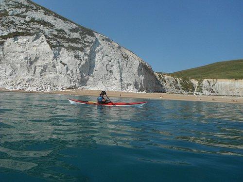 Sea kayaking from Lulworth Cove, Dorset Jurassic Coastline