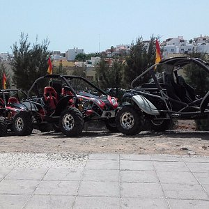 BuggyMix Xperience meeting point right in front of our shop in the heart of Morro Jable.