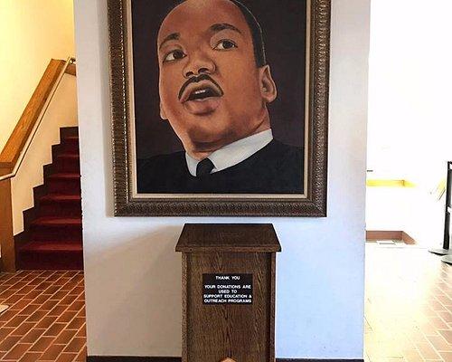 Painting of MLK at the King Center in Atlanta