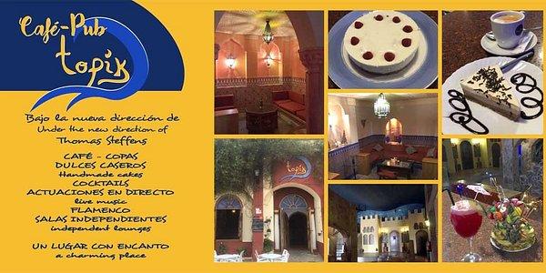 El Cafe Pub Topik es un sitio con encanto, dulces caseros, buen servicio y copas de calidad.
