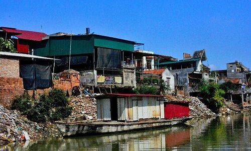 Riverside view of Tho Ha Village