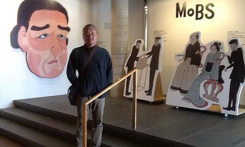 ミュージアム入り口ではペリー提督がお出迎え。記念撮影のパネルもありました