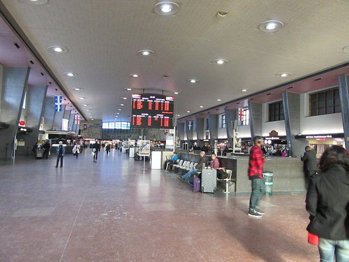 The central reception area of the station.