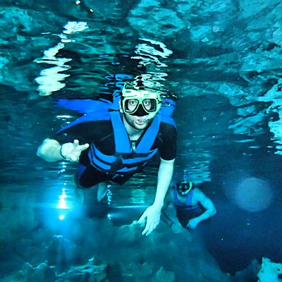 Snorkeling in the cenote
