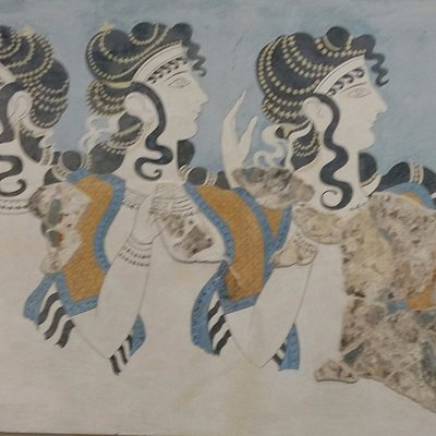 The famous paint that was found in Knossos!