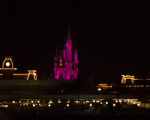 The view of Magic Kingdom from the Seven Seas Lagoon is lovely...