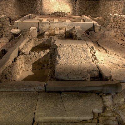 Gli scavi della chiesa paleocristiana nel sottosuolo