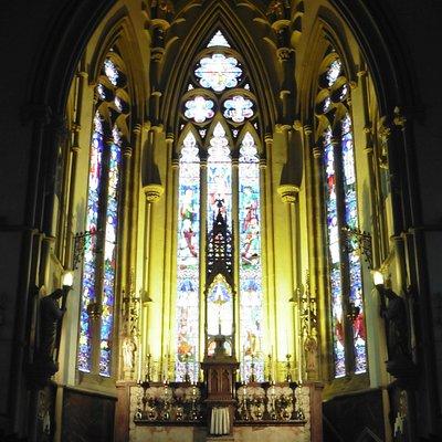 Interieur de l'église St Walburge