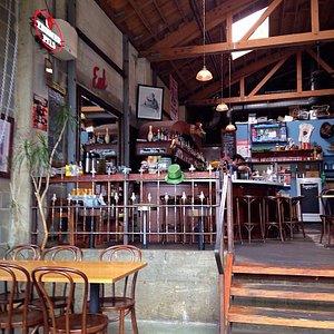 Inside of the shop. Bar area.