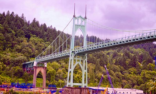 Magnificent bridge in Northwest Portland.