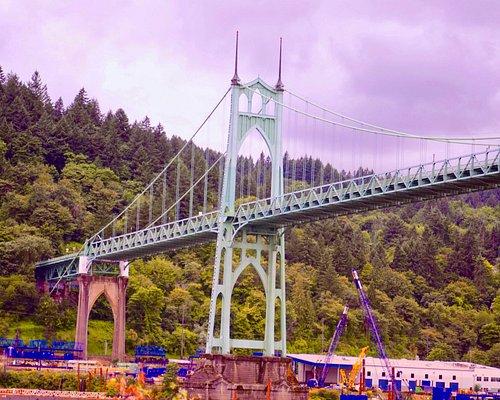 Magnificent bridge in Northwest Portland.