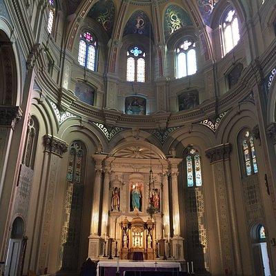 Inside the beautiful Old St. Mary's Catholic Church