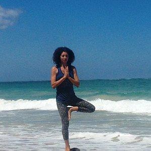 Santosa Yoga on the beach, Condado, Puerto Rico