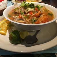 SEEN MARAS SOUP which was full of flavors and real fresh seafood!