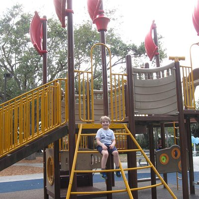 "Part of the ""pirate ship"" on the playground"