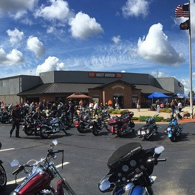 This is during one of our open house events when the whole lot is full of bikes.