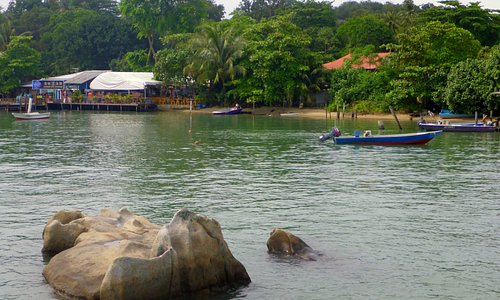 Chek Jawa village from the jetty