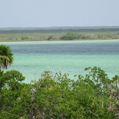 Muyil lagoon view