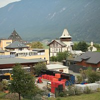 The brewery and view in the Gurgl valley