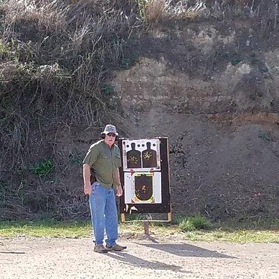 At the Bandera Gun Club Pistol range