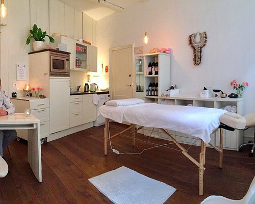 Massage therapists in one room center