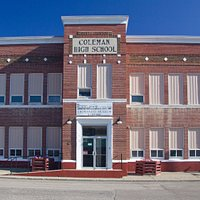 Located in the former Coleman High School, built 1936