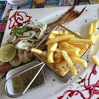 poisson grillé/frites