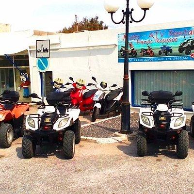 Panos Roussos Scooter Rental Shop in Karterados Santorini
