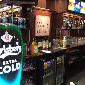 The new clean bar at The White Horse Inn, Gosport
