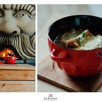 French onion soup La cuptor