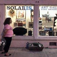 Solaris Art Gallery Front window