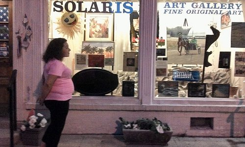 Solaris Art Gallery Front window