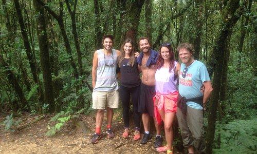 Hiking at La Tigra cloud forest National Park