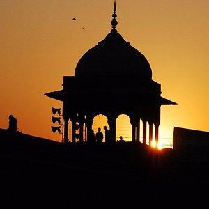 Jama Masjid in all it's glory at Chandni Chowk