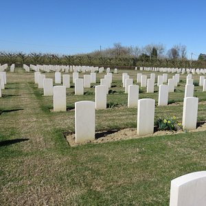 Commonwealth War graves cemetery from World War 2. Burial grounds for 1,152 soldiers.